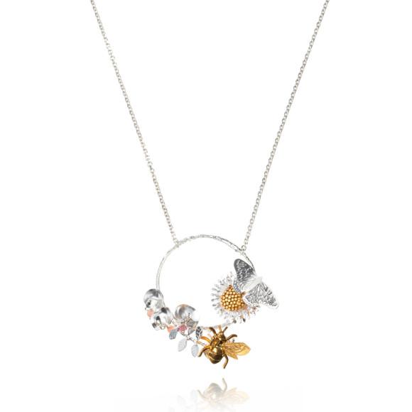 Amanda Coleman country garden hoop necklace
