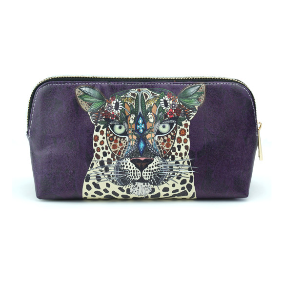 Leopard Queen Vegan Leather Make Up & Cosmetic Bag