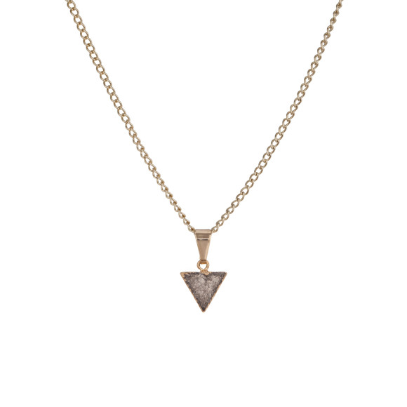 Triangle Drusy Pendant - Dark Grey