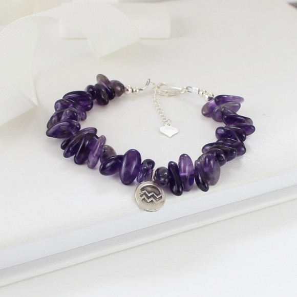 Aquarius: Jan. 20-Feb. 18, amethyst 12mm