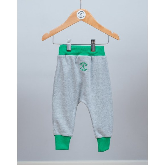 baby and toddler grey & green harem pants
