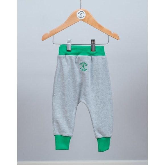 baby and toddler grey & green harem pants