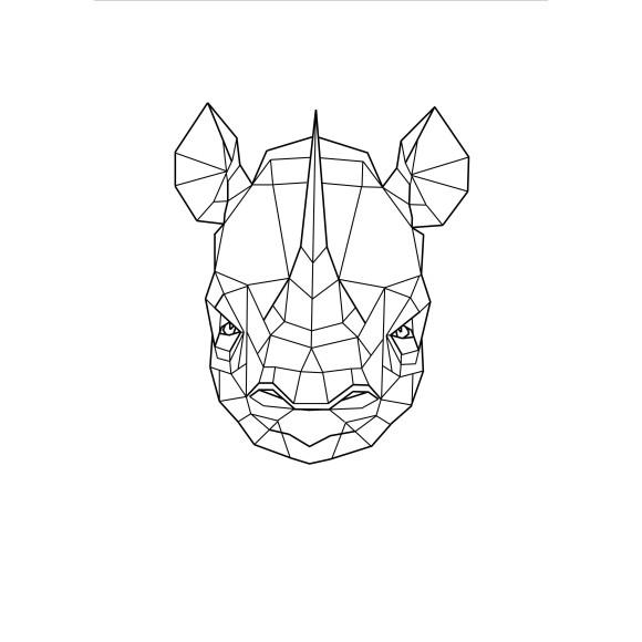 Geo Rhino Print