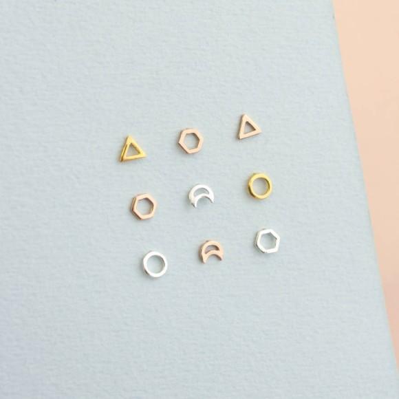 Fine Geometric Stud Earrings