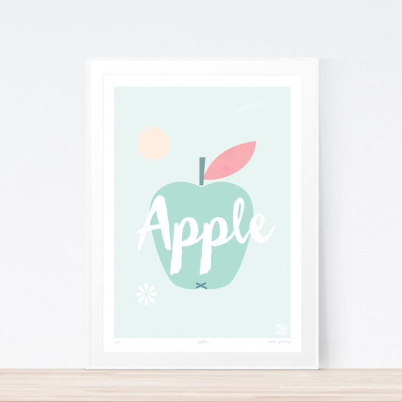 Apple Art Print Framed