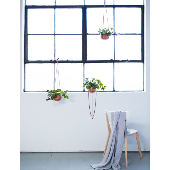 Millie Archer Melbourne Cotton Throw and Hanging Planters