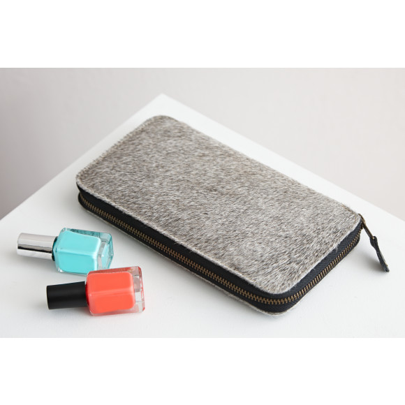 Grey hide clutch