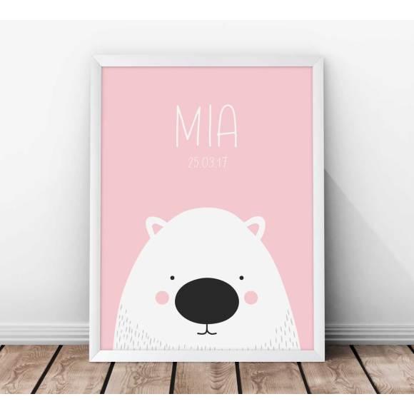 Personalised Wombat Kids' Print - Pink