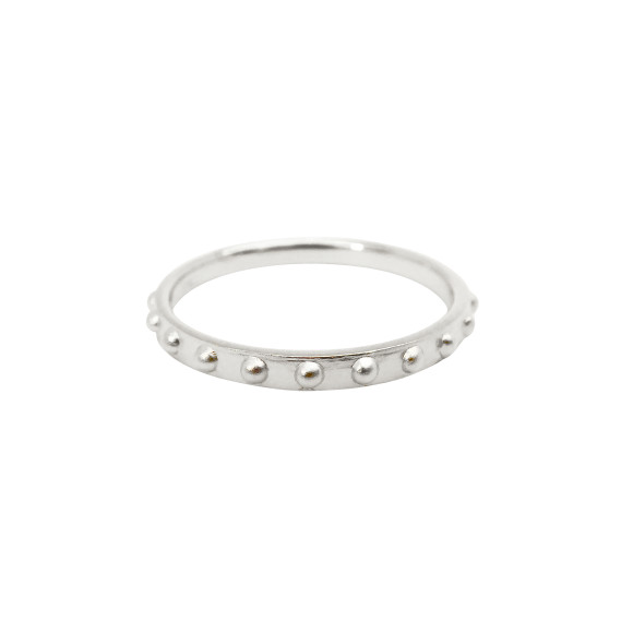 Mini Ball Eternity Ring sterling silver