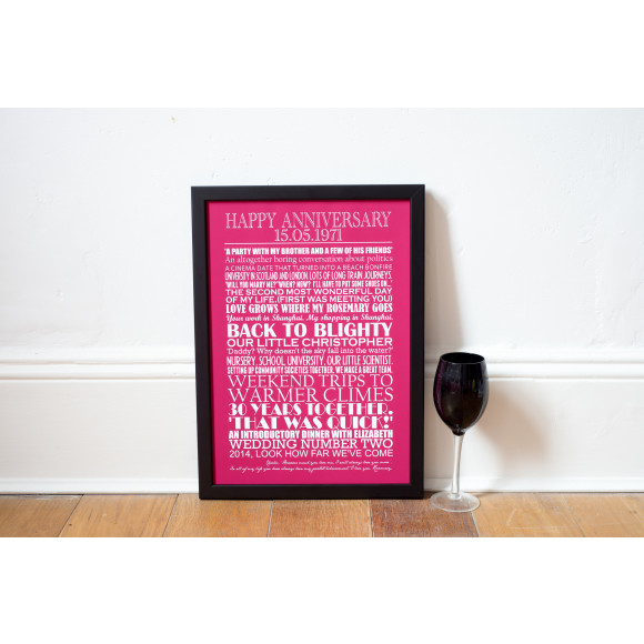 Personalised Anniversary Art Print
