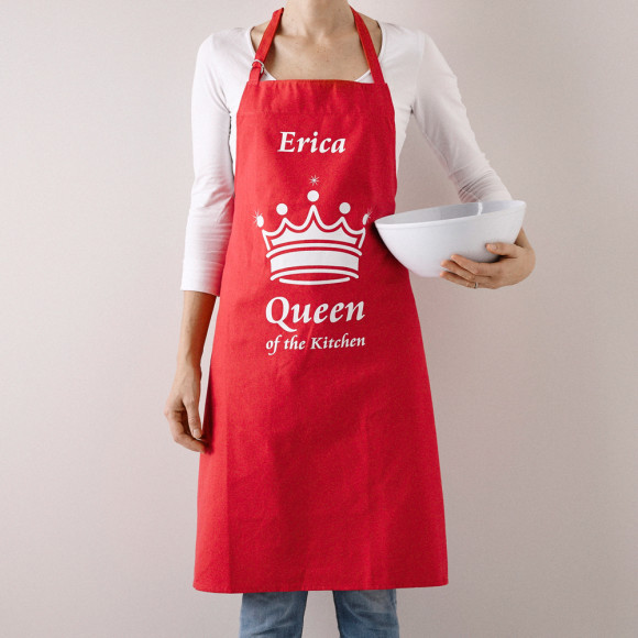 Personalised Queen of the Kitchen Apron | hardtofind.