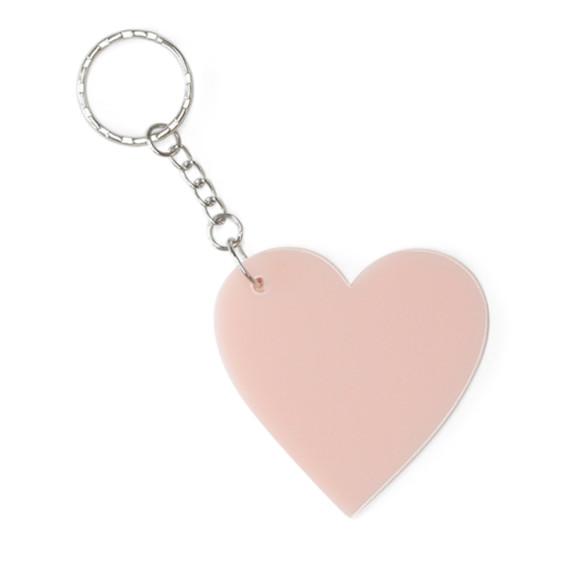 Large blush pink keyring
