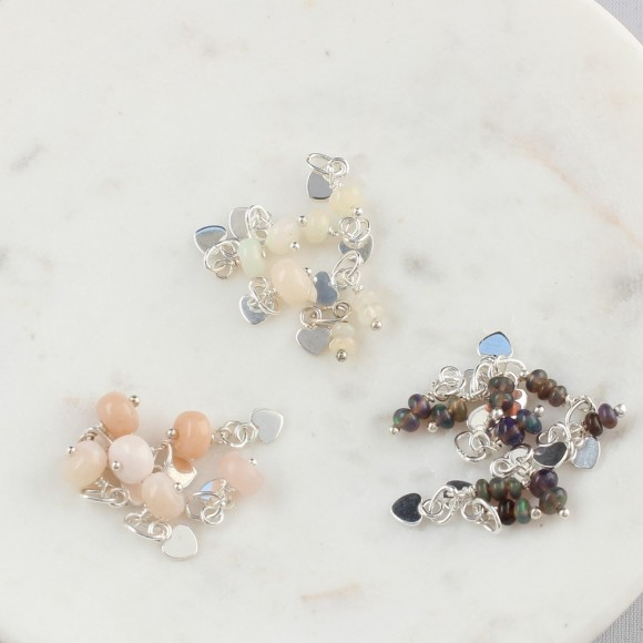 opal cluster charms for october birthdays