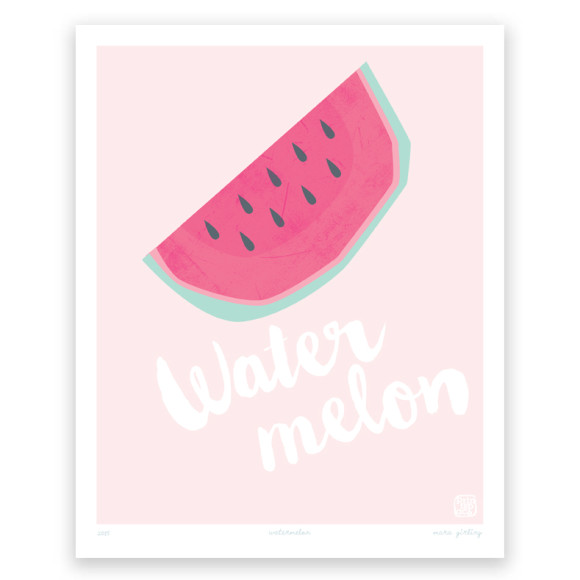 Watermelon At Print