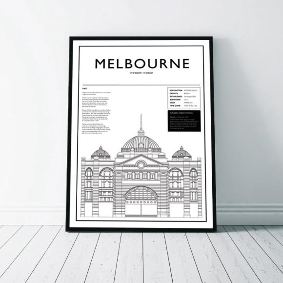Melbourne - Flinders Street Station Wall Art Print