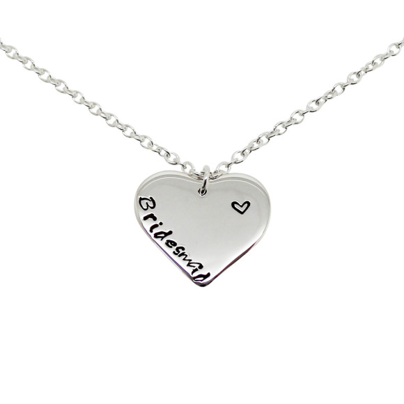 Bridesmaid Heart Link Chain