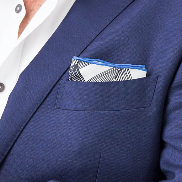 Zig Zag Silk Pocket Square