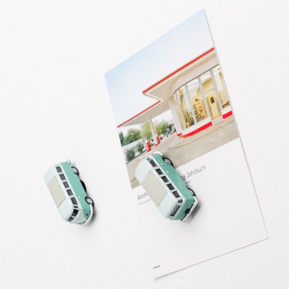 VW Bus Samba magnet on fridge