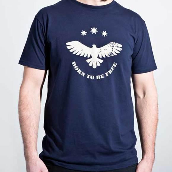Organic cotton men's navy blue t-shirt