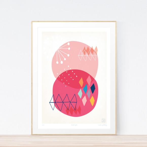 Sweet Pea Art Print (Framed)