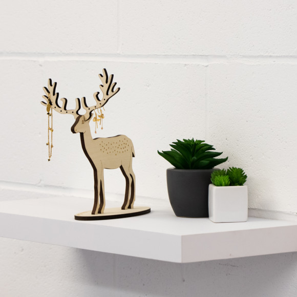 Amanda Coleman Large Deer Jewellery Stand size perspective
