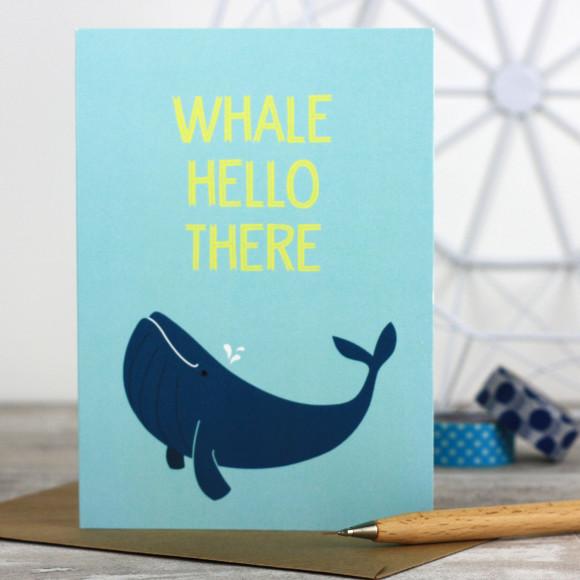 Whale Hello Card
