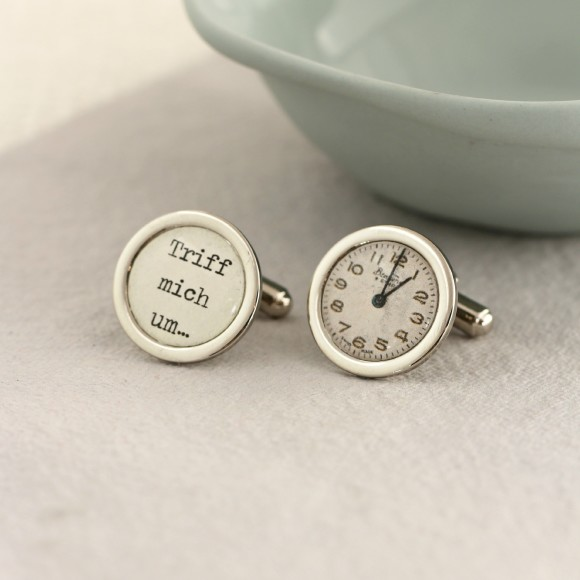 Personalised Special Time Cufflinks - whatever language you speak!