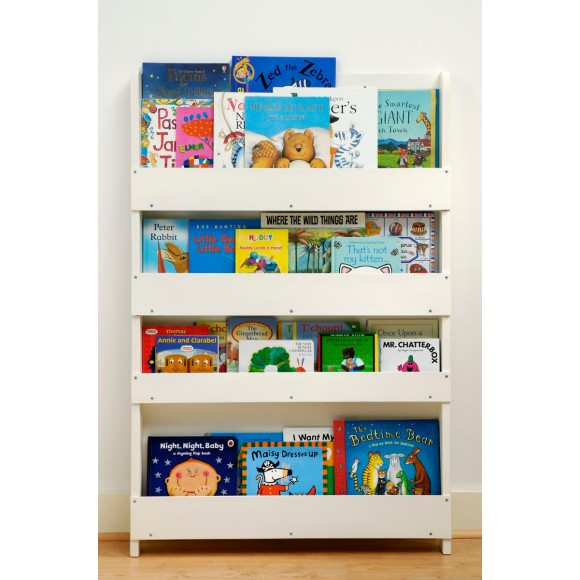The Tidy Books Childrens Bookcase in White - Perfect Book Display and Storage for Your Children