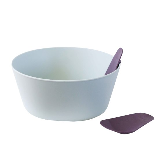 Mint Salad Bowl with Servers