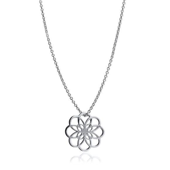 Sterling Silver Petal Pendant
