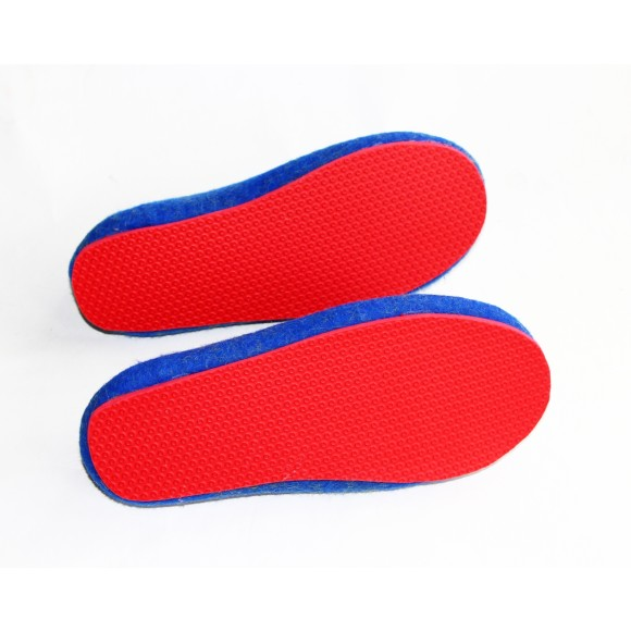 red rubber sole