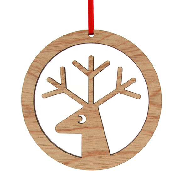 wooden reindeer christmas decoration - Wooden Deer Christmas Decorations