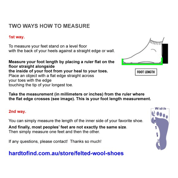 measure your feet