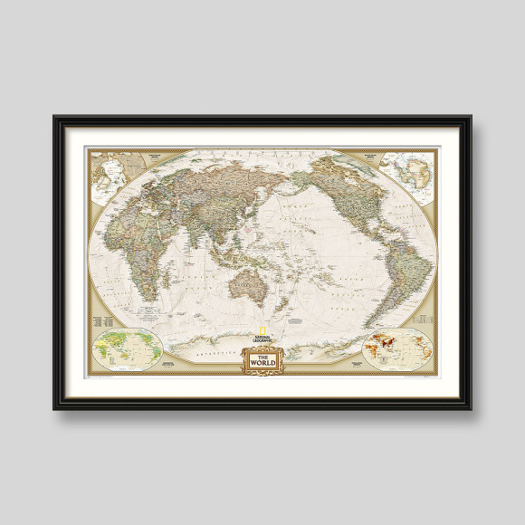World executive wall map pacific centred by national geographic world executive wall map pacific centred by national geographic hardtofind gumiabroncs Gallery