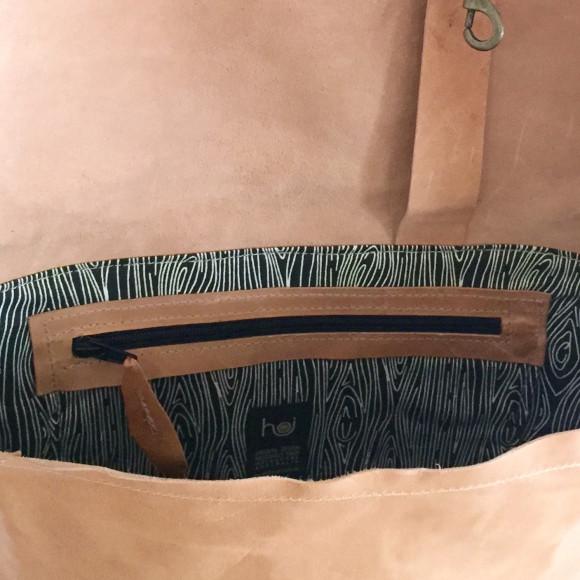 Zipped internal safety pocket