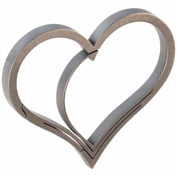 Titanium Heart Keyring