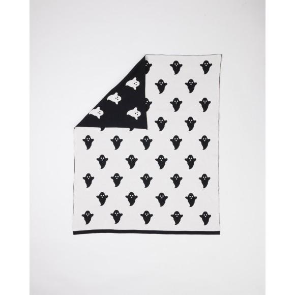 Woouf Blanket Ghost- Black/White
