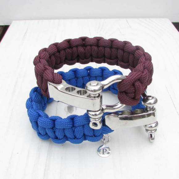 Personalised paracord bracelet Claret
