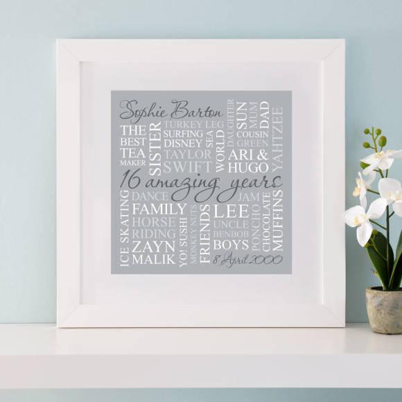 chunky frame grey print