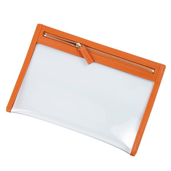 Orange Travel Essentials Organiser