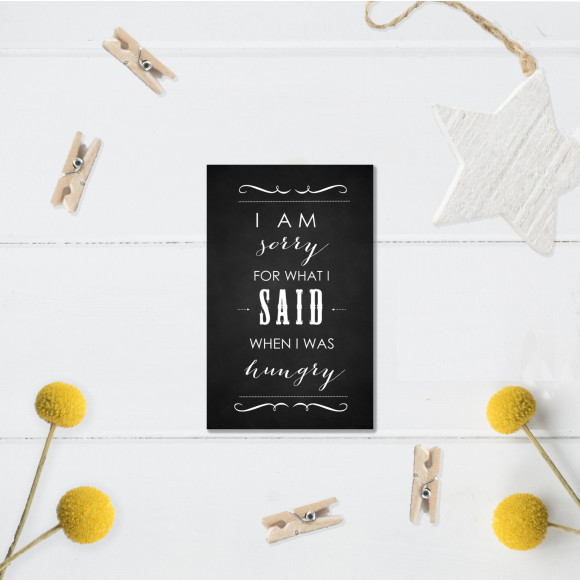 I'm sorry for what I said chalkboard fridge magnet