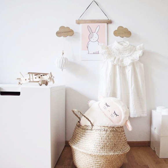 Oliver Rabbit Nursery Art Print