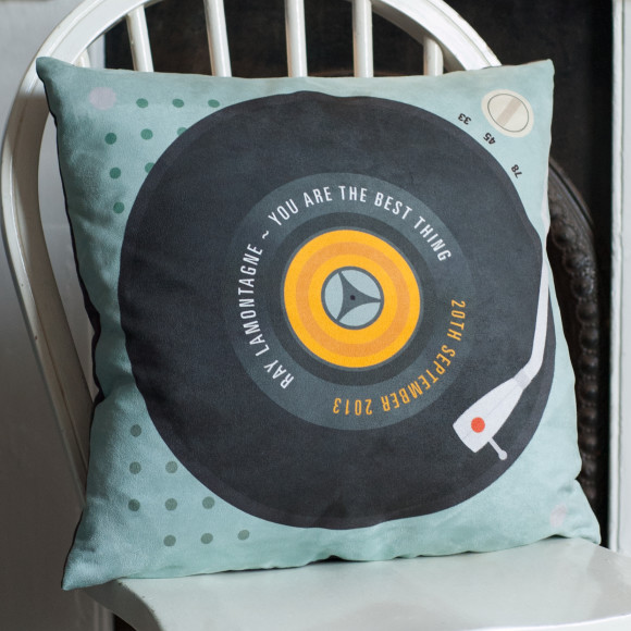 Personalised 'Our Song' Record Cushion