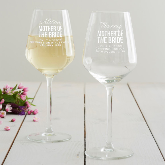 Personalised Mother Of The Bride Wine Glass