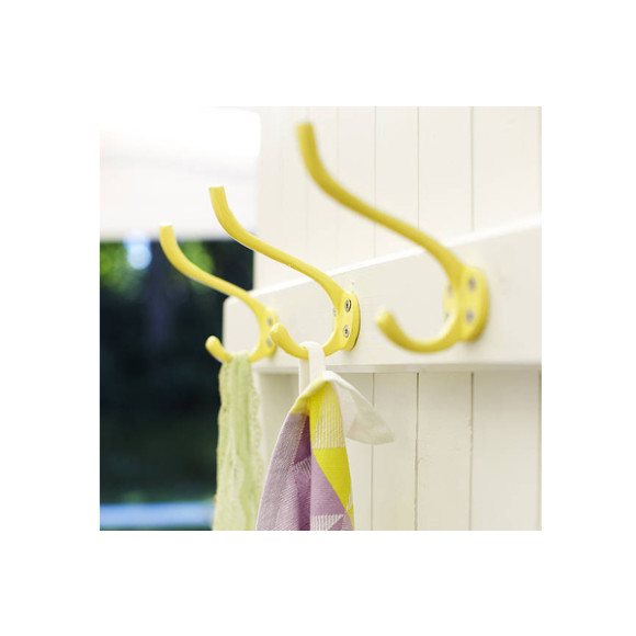 Yellow in-situ wall hooks