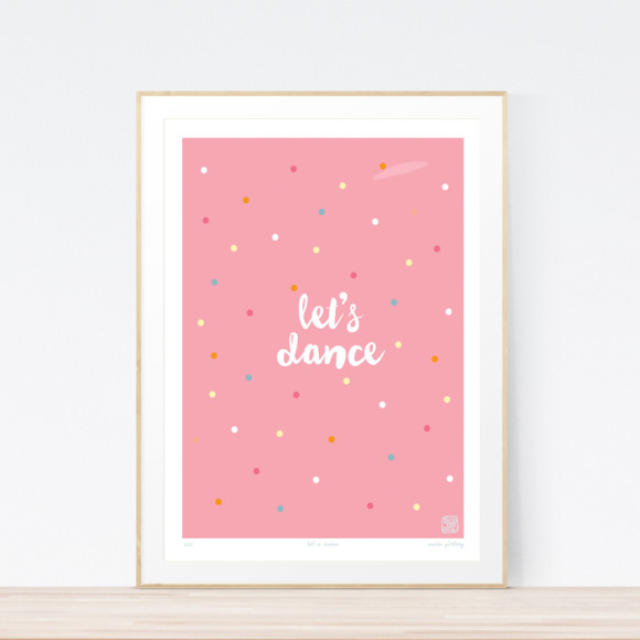 Let's Dance Art Print Framed