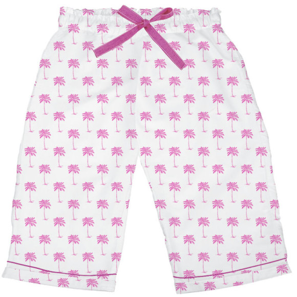 Pink Palm Cotton Sleep Shorts
