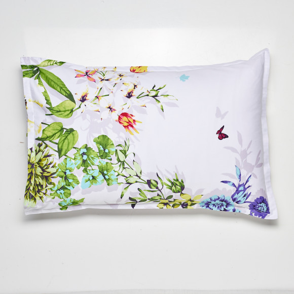 Front of standard size pillowcase included in 3-Piece Quilt Set