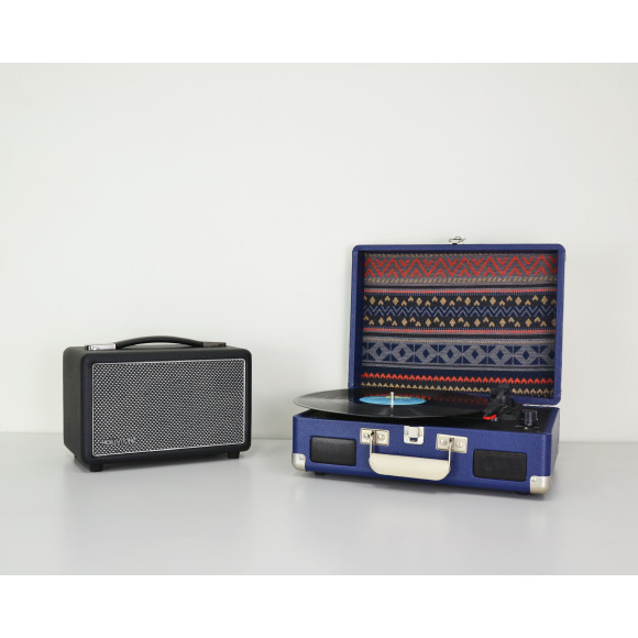 Black with FREE Crosley Cruiser 2 Blue