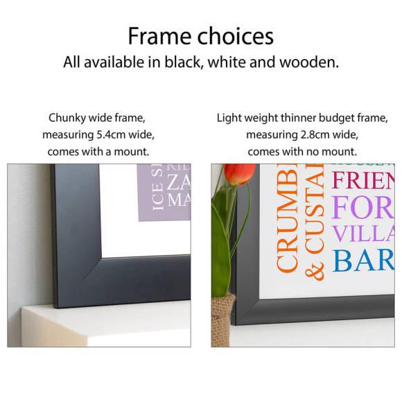 frame choices